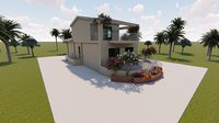 3D model revit villa house