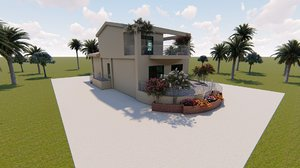 3D model revit villa house