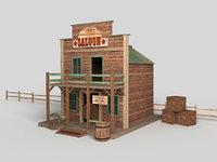 Western building Saloon