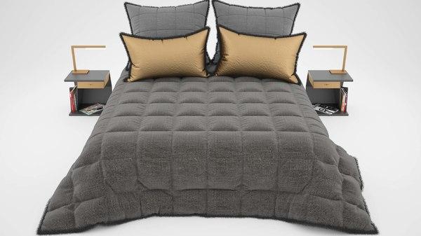 3D model bed linen