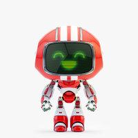 lovely robot - friendly 3D model