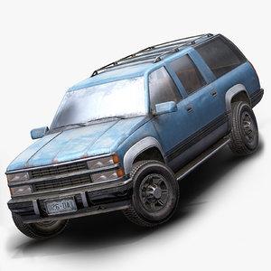 3D model old suv car