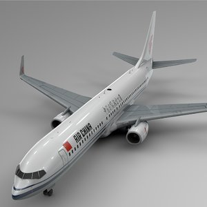 3D model air china boeing 737-800