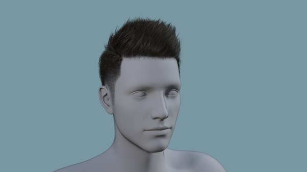 character hair 3D