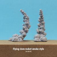 Rocket smoke (flying stem for miniatures)