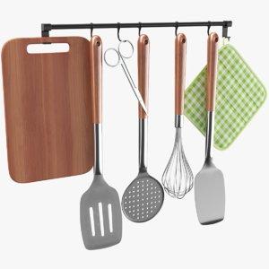real kitchen utensil holder 3D model