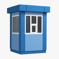security booth 01 3D model