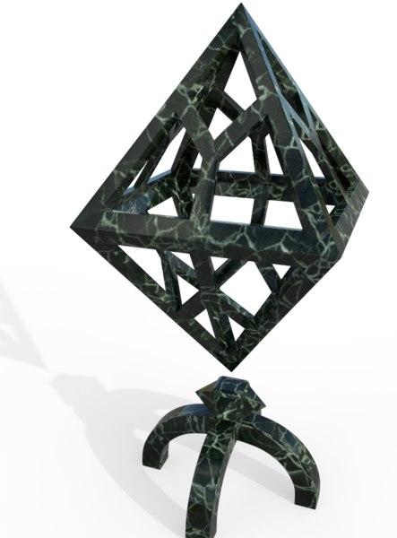 3D art cube deco