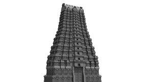 hindu temple 3D model
