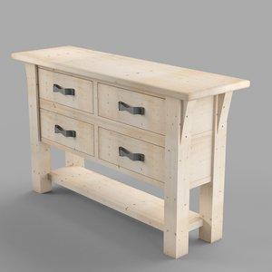 3D drawer model