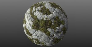 Mossy Rock 002 PBR Material Texture