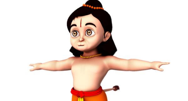 3D baby hanuman