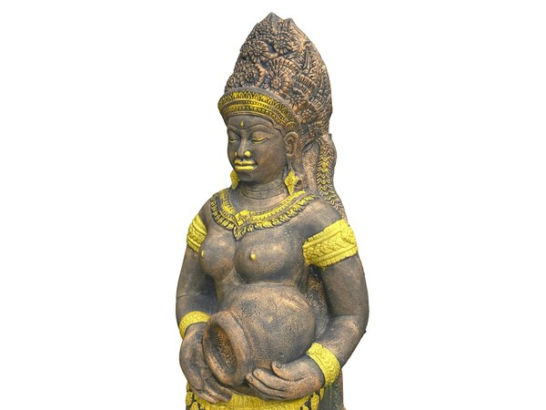 3D asian sculpture 8k model