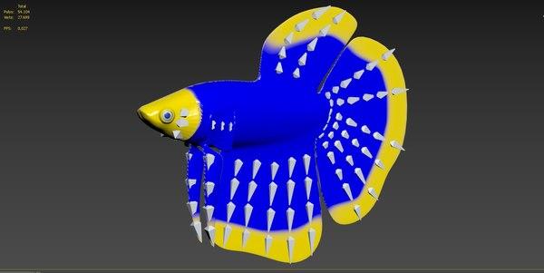 clown betta fish 3D model