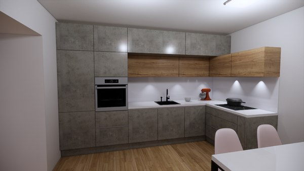 modern kitchen tv set 3D