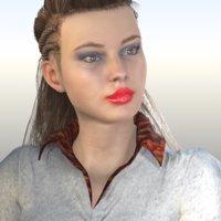 3D model laura hd