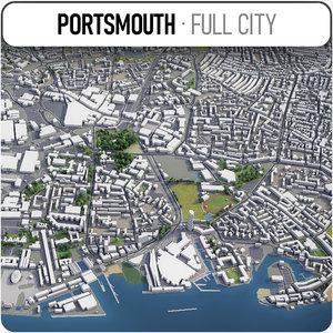 portsmouth surrounding - 3D model