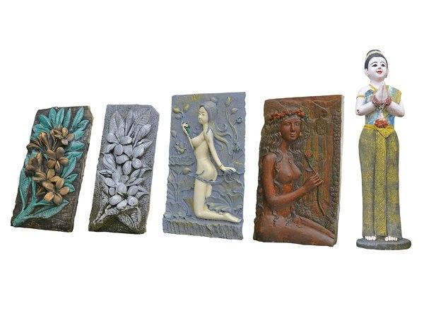 3D relief sculpture pack model