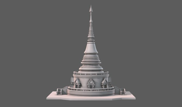 3D model temple pagoda v03