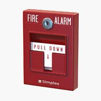 realistic alarm button model