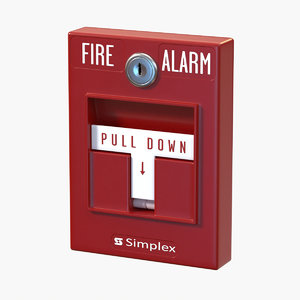 realistic alarm button model