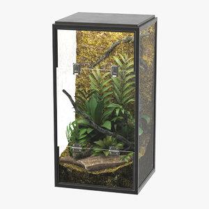 realistic terrarium 2 3D model