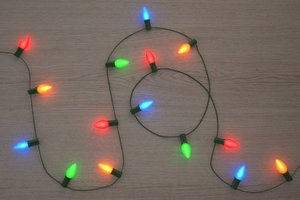 string christmas lights v5 3D