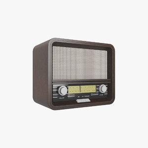 3D old radio