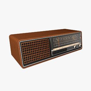 classic radio 1970s 3D