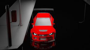 lancer evolution 9 3D model