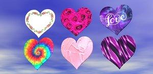 heart symbol shape design 3D model