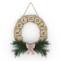 wreath log 3D