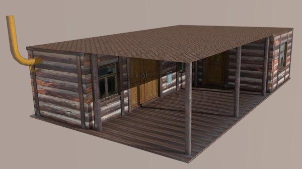 barrack 3D model