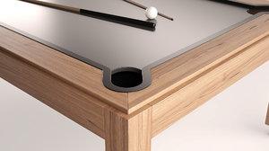 3D model modern pool table