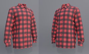 3D male shirt model