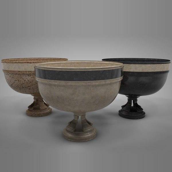 3D antique vase l414