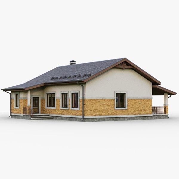 3D model gameready cottage house