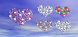 3D heart love design shape