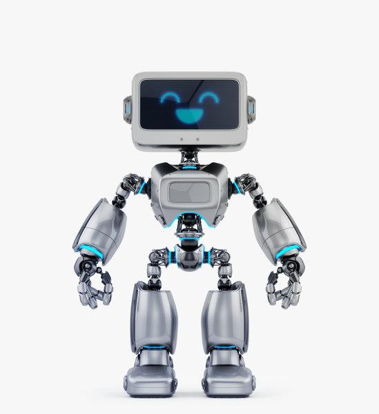 digital robotic retro bot 3D model