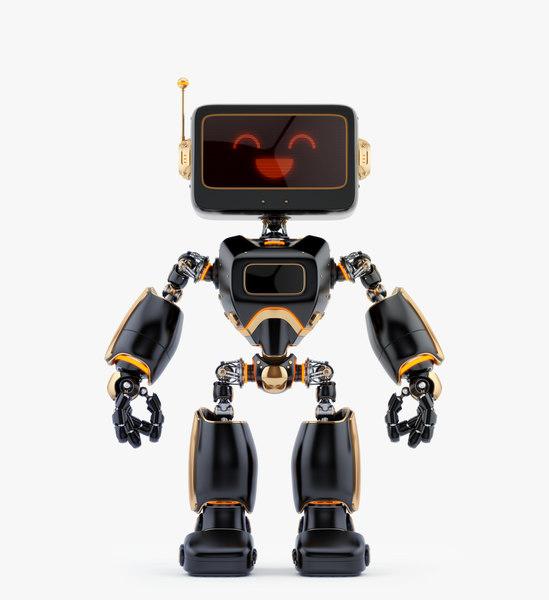 3D digital robotic retro bot