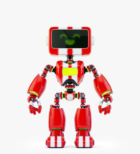 3D digital robotic retro bot