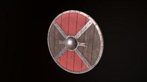 medieval buckler 3D model