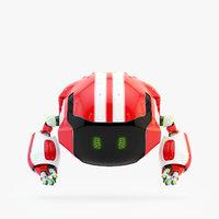 3D model sprinting drone iv
