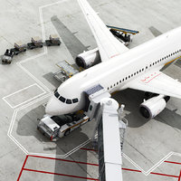 3D airport elemets set 1