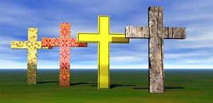 cross symbol 3D model