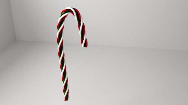 3D candy cane 5 model