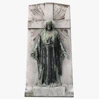 3D jesus pedestal statue