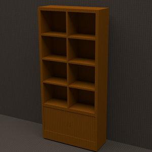 bookshelf shelf book 3D model