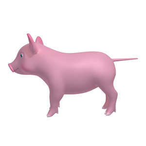 pig cartoon 3D model