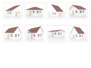 3D roof-hause-exterior-build-tile model